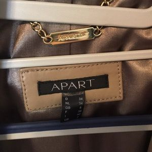 Apart Leather Trench Coat